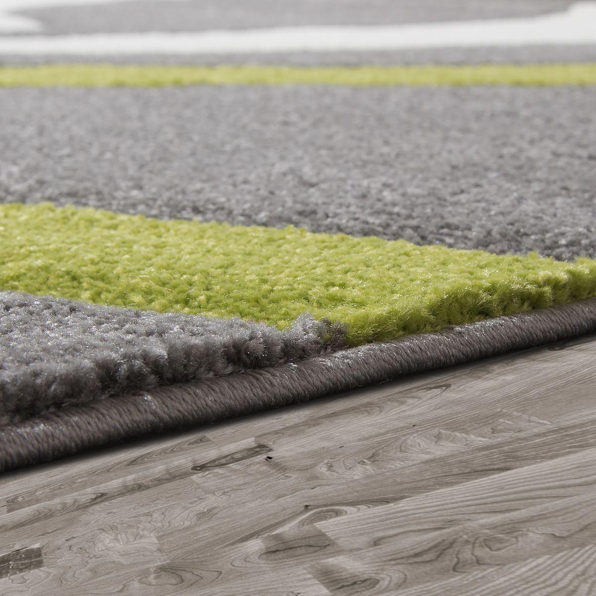 Teppich Grau Grün Weiß Wohnzimmer Teppiche Modern Modern Modern mit Konturenschnitt e1cd53