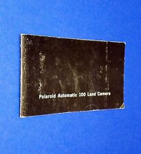 VTG 1970 Polaroid Instant Land Pack Camera Auto 100 Instruction Manual Booklet