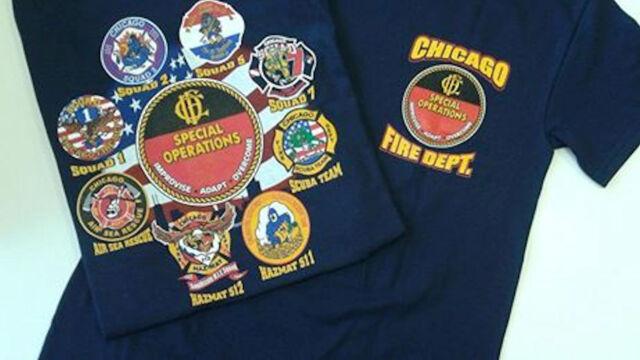 Kapuzensweatjacke navy Chicago Fire Dept SQUAD Company gelb