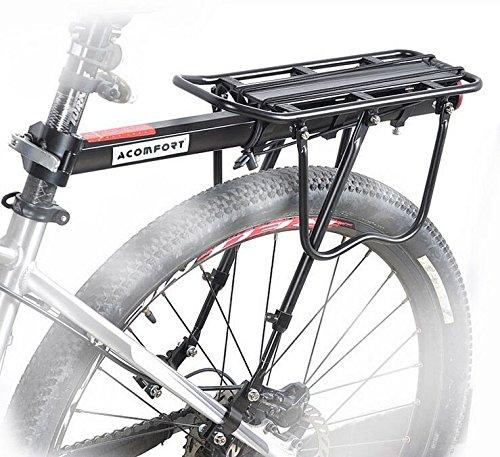 110 Lbs Capacity Adjustable Bike Luggage Cargo Rack Bicycle Accessories Carrier