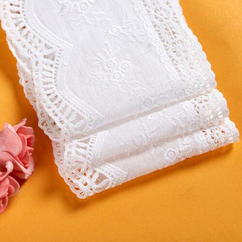 1 Yard Flower Stickerei Spitze Aushöhlen Trim DIY Borten Kleidung Bänder Zubehör