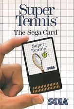 ## SEGA Master System Card - Super Tennis (m.l. - Cover) - TOP / MS Spiel ##