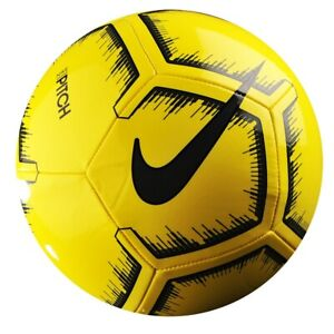 Details About Soccer Ball Nike Pitch 4 Yellow Size 5 Football Fussball