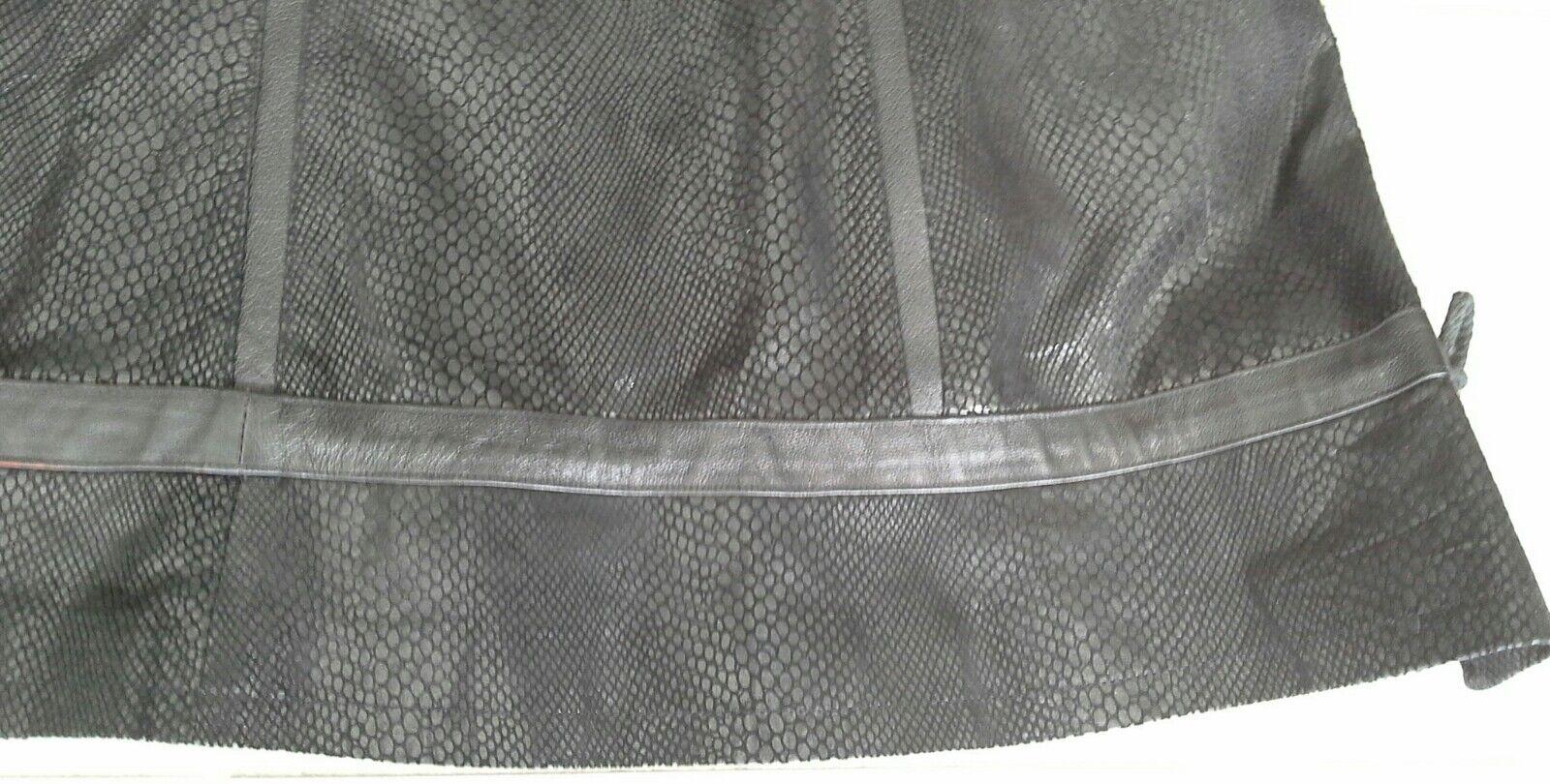 Ausgefallener Schlangenledermantel schwarz Gr 44 | Creative  | | | Hervorragende Eigenschaften  | Helle Farben  bfdd03