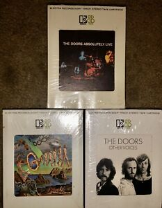 LOT-OF-3-THE-DOORS-8-TRACK-TAPES-FULL-CIRCLE-ABSOLUTELY-LIVE-OTHER-VOICES-LOOK