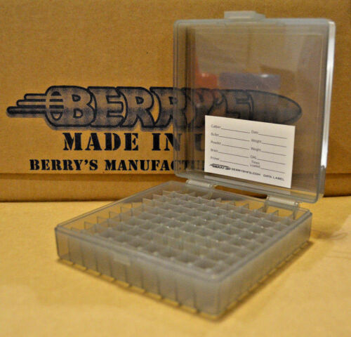 4 9 mm // 380 - SMOKE COLOR Berrys mfg x 100 round ammo case // box 9 mm NEW