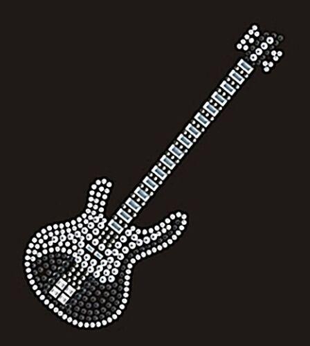 Bügelbild traumhafte Gitarre Schwarz 110214 Karostonebox Hotfix Strass