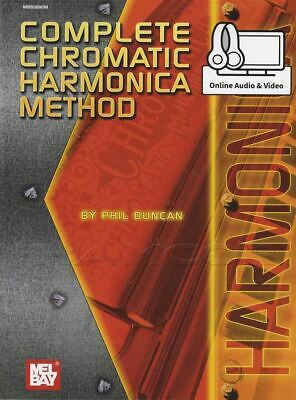 Streng Complete Chromatic Harmonica Method Music Book/audio/video Same Day Dispatch Te Koop
