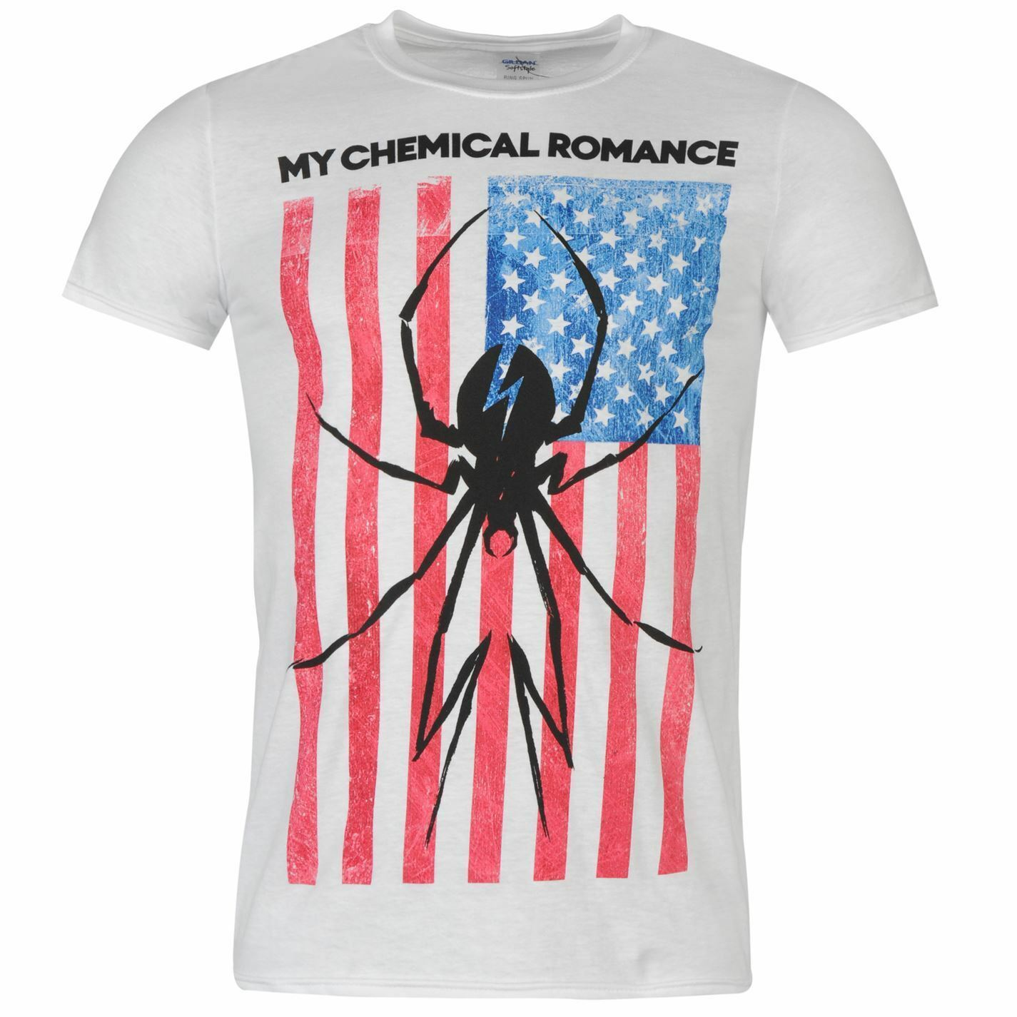 My Chemical Romance Flag Spider T-Shirt Mens White Casual Wear Top Tee Shirt