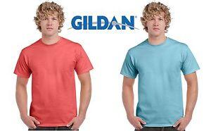 GILDAN-T-SHIRT-HEAVY-CAMISETA-DE-MANGA-CORTA-HOMBRE-ALGODoN-SUETER-FRUIT