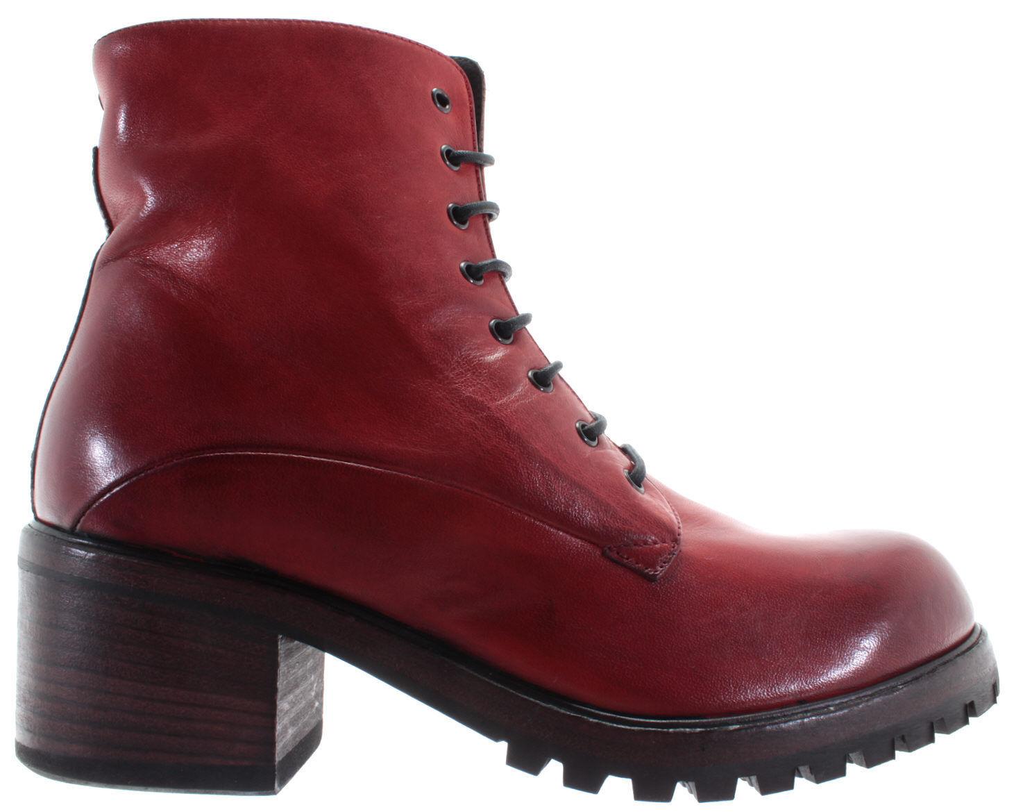 PANTANETTI zapatos mujer Ankle botas 11823H Nappa Horse Matton rojo Zip