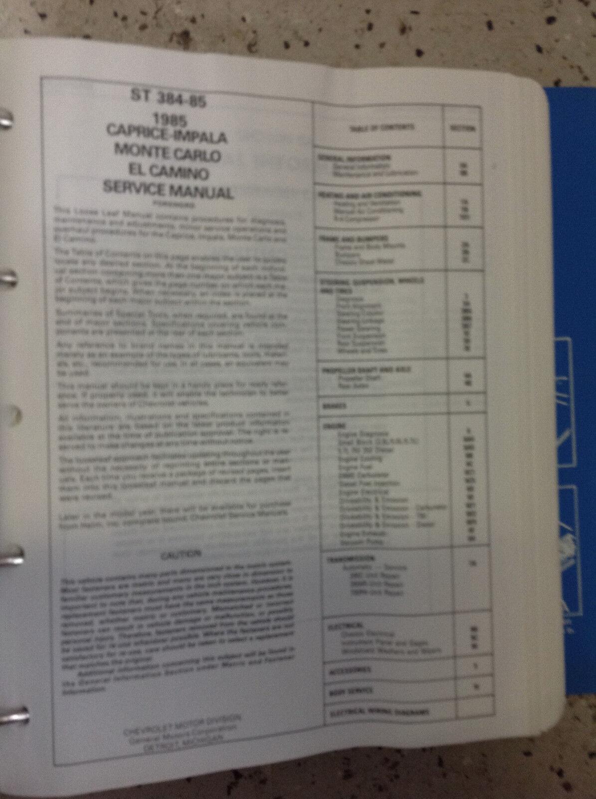 monte carlo service manual 1985
