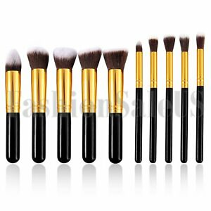 10Pc-Makeup-Brushes-Tool-Set-Cosmetic-Eyeshadow-Face-Powder-Foundation-Lip-Brush