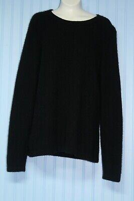 Preswick & Moore 100% cashmere black scoop neck pullover sweater Large | eBay