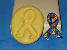 """military mold mould 9/""""L  x 5/"""" W x 3//4/"""" thick Ribbon  breast cancer"""