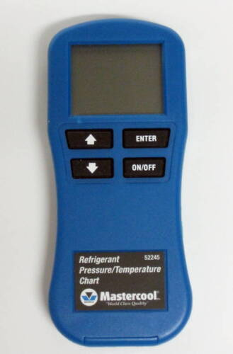 52245 Mastercool Digital Refrigerant Gas Pressure Temperature Chart R410a R22