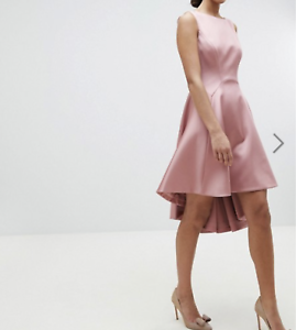 Details About New Missing Button Ted Baker Tie The Knot Sculpted Skater Bridesmaid Dress Sz 1
