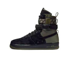 Nike SF Air Force 1 Shoe # 864024 004 Black Olive Camo Men Sz 7.5 - 13