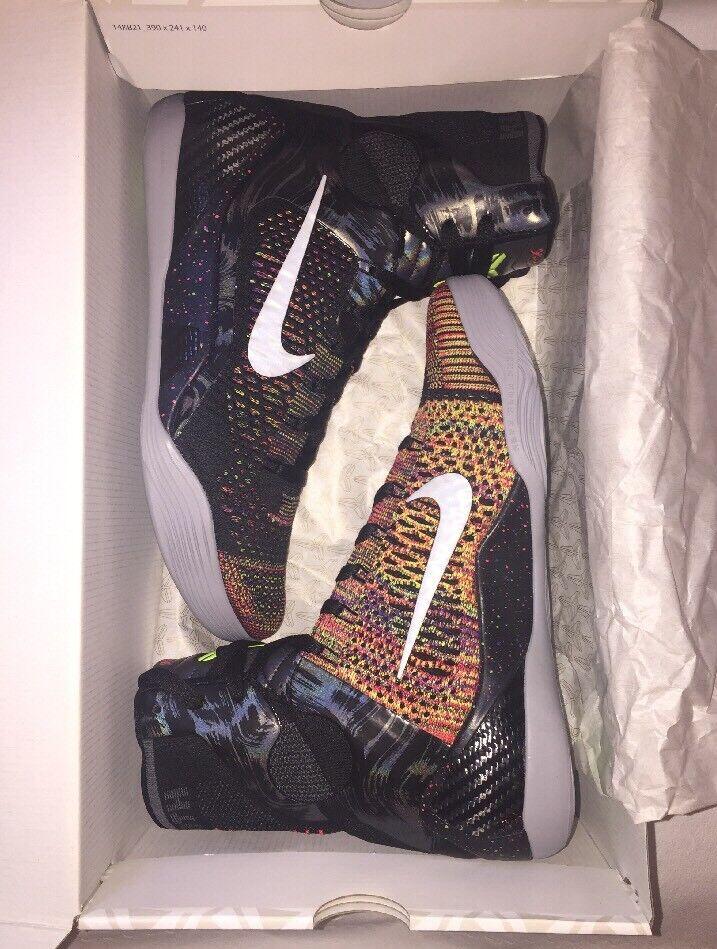 "Nike Kobe IX 9 Elite ""Masterpiece"" Basketball Men's shoes 630847-001 US 9.5"