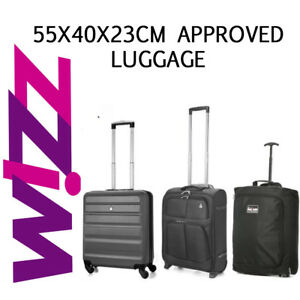 Fits Wizz Air Paid 55x40x23cm Hand Luggage Cabin Holdall Bag Suitcase Allowance Ebay