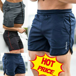 Casual-Men-039-s-GYM-Shorts-Training-Running-Sport-Workout-Jogging-Pants-Trousers-Vi