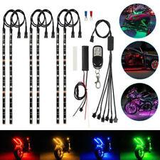 6pcs Motorcycle 5050 Led Lights Strip Wireless Remote Rgb 18 Color Neon Glow Kit