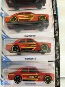 Hot-Wheels-2019-71-Datsun-510-Momo-Red-JDM-FREE-SHIPPING-multiple-available