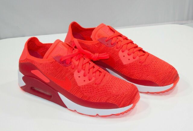 Nike Air Max 90 Ultra 2.0 Flyknit Bright Crimson Men's Shoes Sz 9.5 875943 600