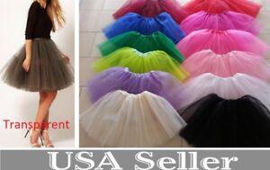 Women-Adult-Teen-3-Layer-Tulle-TUTU-Skirt-Organza-Pettiskirt-Ballet-Dancewear