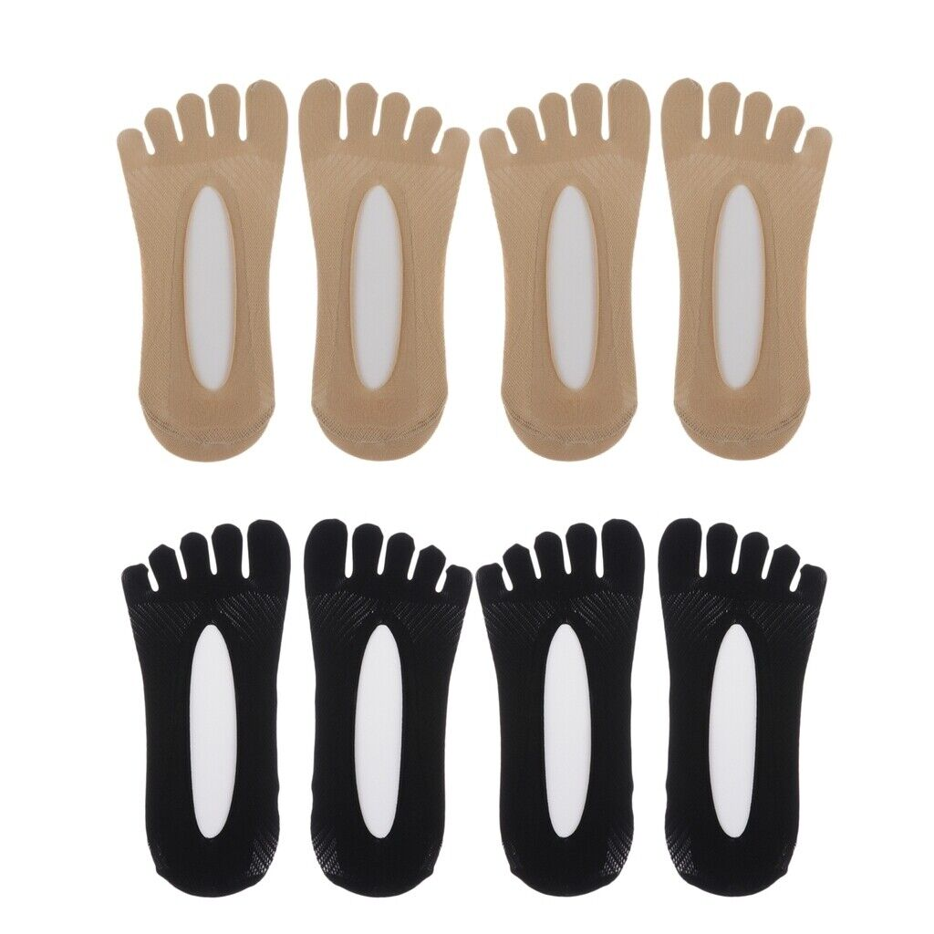 4 Paar Zehen Socken Low Cut Fünf Finger Socken Bootssocken weichen und