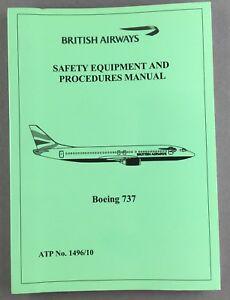 british airways boeing 737 cabin crew safety equipment sep manual ba rh ebay co uk boeing 737 flight crew operations manual volume 2 boeing 737-800 flight crew operating manual