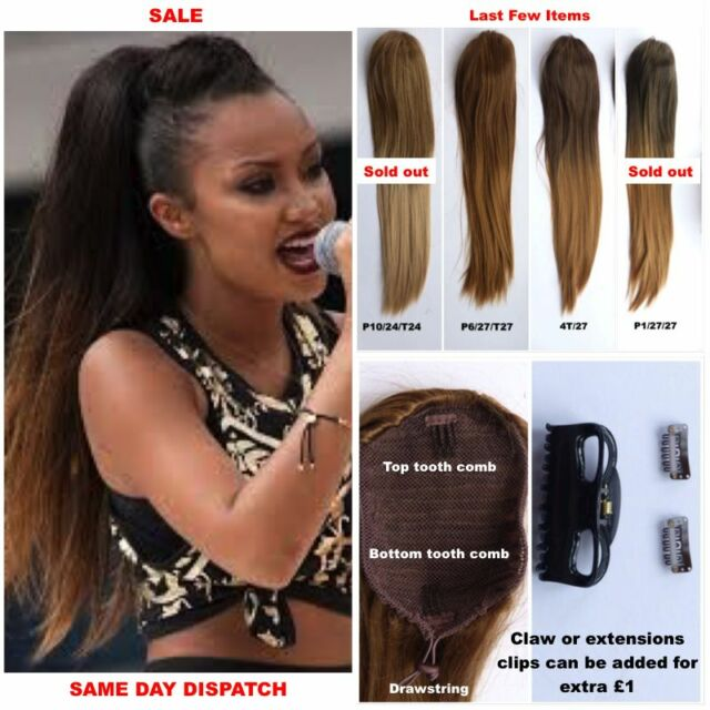 """20% OFF  22"""" Straight Ombre Heat Resistant Dip Dyed Drawstring Ponytail (B3)"""
