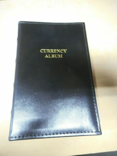 Lighthouse Small Bills Currency Album Book Folder Collector Gift 20 Pages USED