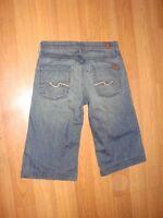 7 for all mankind crop ginger jeans size 28