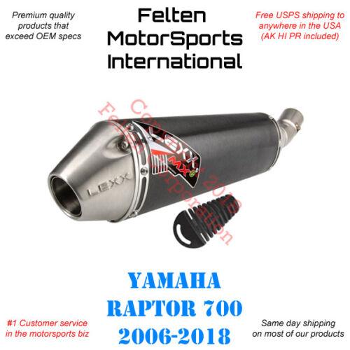 Lexx MXe Yamaha Raptor 700 700R Slip-On Silencer Muffler Exhaust Lex Pipe 06-18