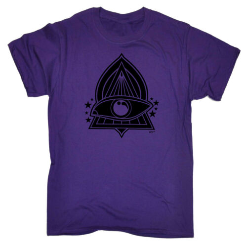 Divertenti Novità T-shirt Da Uomo T-Shirt Tee-Bianco Triangolo Occhio