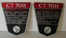 Honda CT70H KO RED 2pc. Side Body/Frame IMPORTANT Aluminum Set 70-71