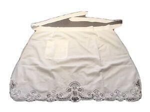 Vintage-Waist-Apron-White-Lace