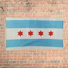 New Design 3'x5' Ft Chicago City Illinois IL Flag Polyester Grommets American