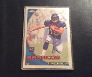 Details About 2010 Topps Chrome Tim Tebow Rookie Card C100