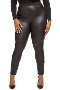 Women Slim Stretchy Long Pants Pu Leather Club Party Joggings Trousers Plus Size