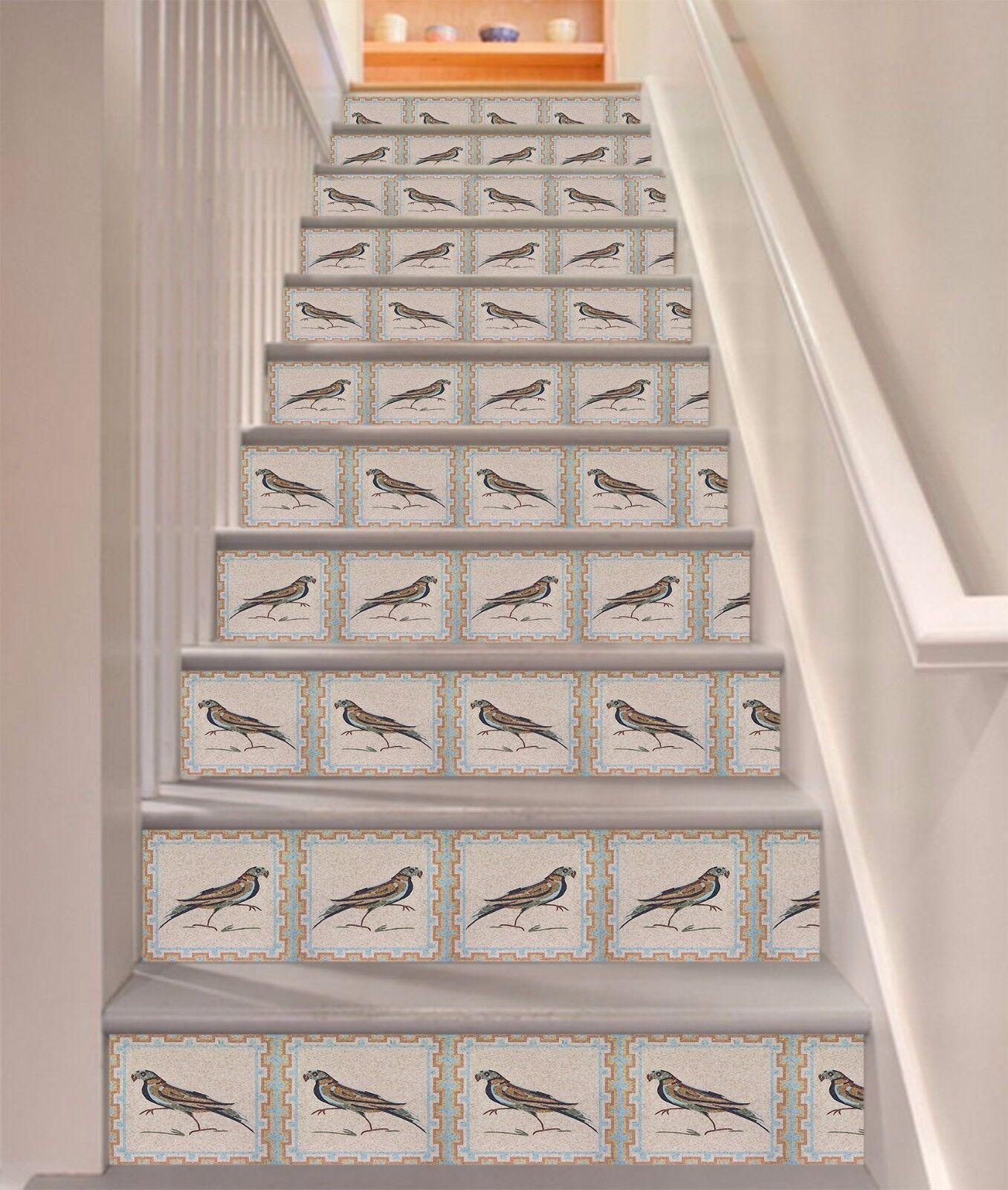 3D Bird pattern 552 Risers Decoration Photo Mural Vinyl Decal Wallpaper US Lemon