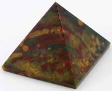 Bloodstone Crystal Pyramid 30-40mm Energy Generator Powerful Healing Stone