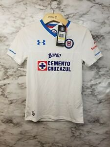 88d447774 UNDER ARMOUR Dep CRUZ AZUL MEXICO Liga MX SOCCER JERSEY Sz Youth M ...