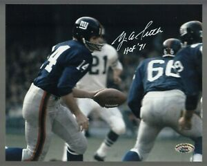 Y-A-Tittle-Signed-Auto-Color-Giants-8x10-Photo-W-HOF-71-SCH-Auth-27695-58