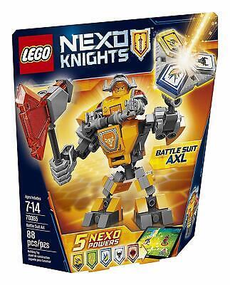 Sealed - New LEGO 70365 -Nexo KnightsBattle Suit Axl Retired. 88 Pcs