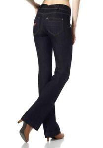 Details zu Arizona High Waist Bootcut Jeans K Gr.17 19 NEU Damen Hose Rinsed Stretch Denim