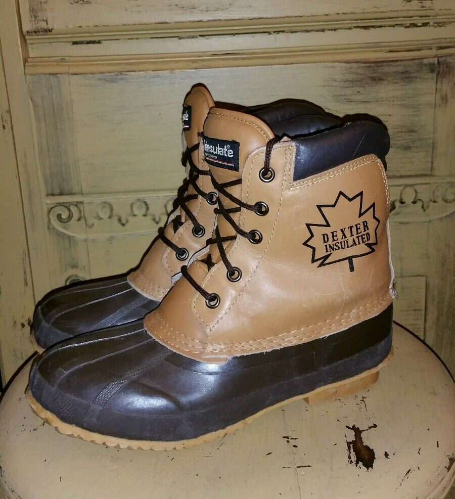 DEXTER THINSULATE INSULATED WINTER DUCK HUNTING BOOTS BROWN LADIES 8 M  WARM