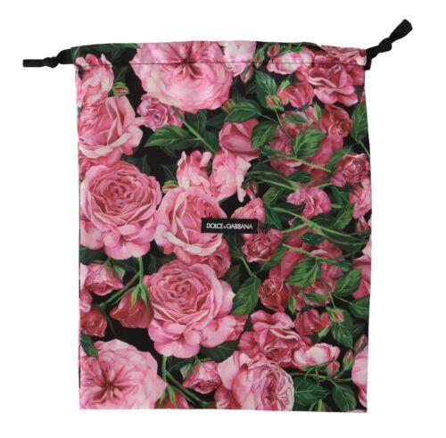DOLCE /& GABBANA Dustbag Cover Bag Roses Floral Drawstring Shoebag 38cm x 30cm
