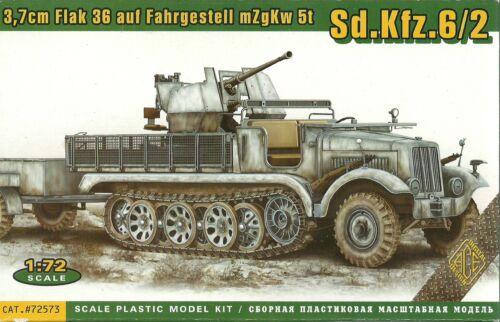 Ace 1//72 20 mm SD KFZ 6//2 avec 3.7 CM FLAK 36